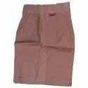 Cotton Brown Boys School Shorts