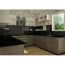 Laminated U Shaped Modular Kitchen
