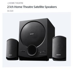 2.1ch Sony Home Theatre