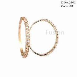 Rose Gold Polish American Diamond Bracelet Kada
