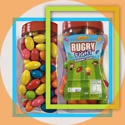 Frootola Orange RUGBY FIGHT (Bubble Gum), Packaging Type: Plastic Jar