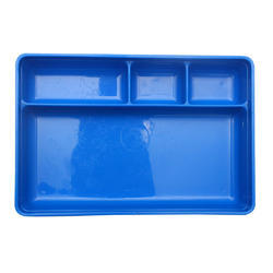 Plastic Four Compartment Medical Tray