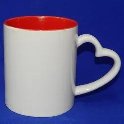 Heart Handle Mug Colored Mug