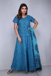 Nakhrali Brown Ladies Long Skirt