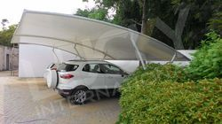 PVC Coated Car Parking Canopy