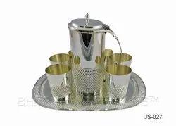 Pure Silver Designer Jug Set