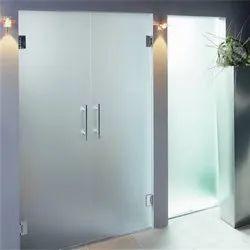 Swing Interior Toughened Glass Door, Thickness: 10-12 Mm