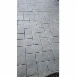 Gray Polished Stamped Concrete Flooring Service