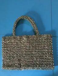 Metallic Beaded Bag