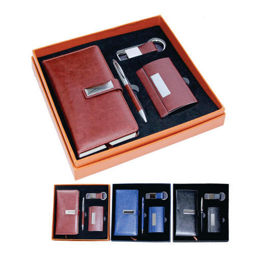 Brown Walnut Corporate Gift Set, Packaging Type: Box