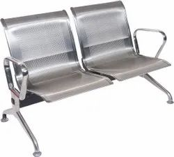 Stainless Steel 2 Seater Waiting Chair