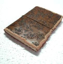 Flower Embossed Vintage Leather Journal