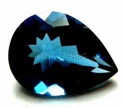 London Blue Topaz Pear Gemstone