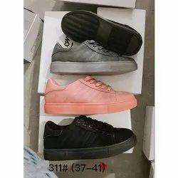 Women Canvas Ladies Designer Sneaker Shoes, Size: 37-41