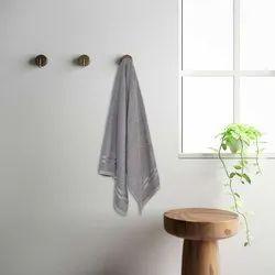 Welspun 1040955 Grey Quick Dry Cotton Bath Towel