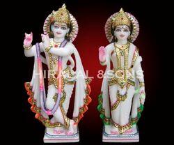 Marble Radha Krishna Jodi Statue