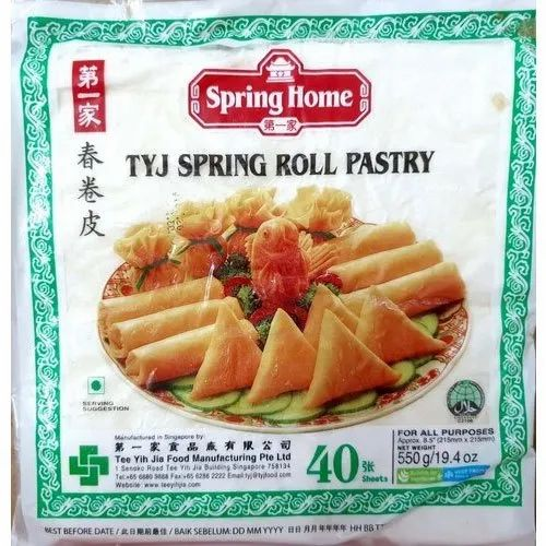 Tyj Spring Roll Sheet, Pkt Qty: 40 Sheets