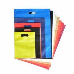 Plain White Colored Non Woven D Cut Bag