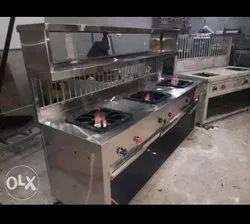 Stainless Steel 3 burner cooking range Counter
