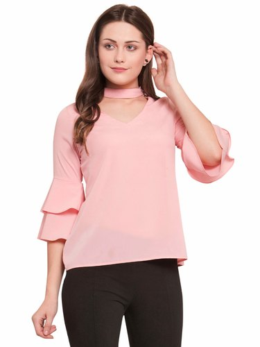 6c9a45bfaad Martini Ladies Tops and Tunics - Martini Nude Pink Layered Sleeve ...