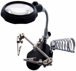 LED Magnifying Soldering Iron Stand Magnifier
