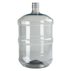 Plastic And HDPE Blue And White 20 Ltr Water Jar, Capacity: 20 L