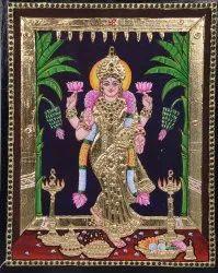 Grahalakshmi Tanjore Painting