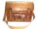 Curve Leather  Laptop Shoulder Bag