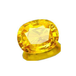 Colorgems Cultured Pukhraj Yellow Sapphire Loose Precious Gemstone Certified 5.25 Ratti