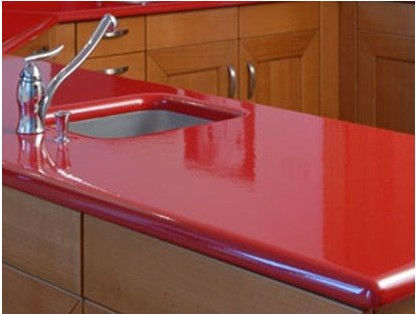 Gr 201 Bright Red Acrylic Solid Surface