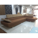Wood L Shape Sofa Set