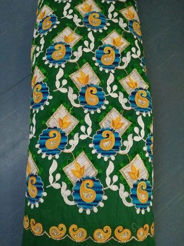 Chain Stitch Embroidery Fabric Kadhai Wale Kapde