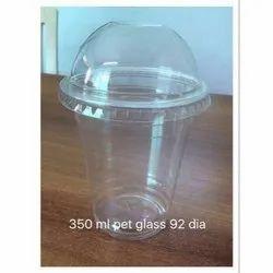 Plain Plastic 350 ml Disposable Pet Glass