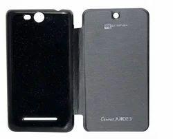 Flip Cover For Micromax Canvas Juice 3 Q392 Black