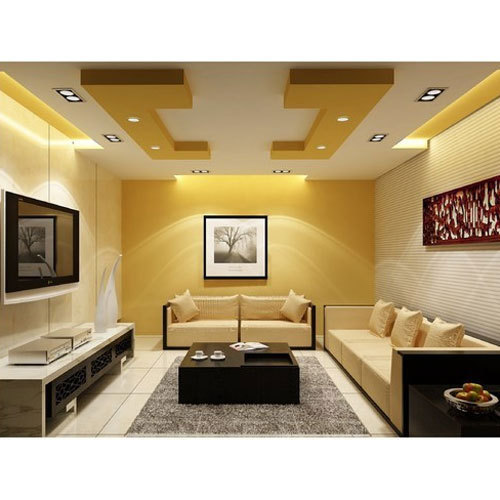 living room false ceiling designs colourful decorating ideas   Armstrong Off White Color Living Room False Ceiling ...