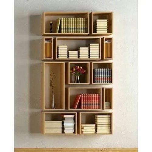 Brown Wood En Wall Bookshelf, Rs 20000 /piece Neha Steel ...