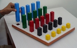Wooden Graded Square Peg Board (25 Pegs), For Hospital