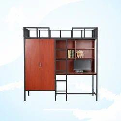 Loft Bed Set With Study Wardrobe