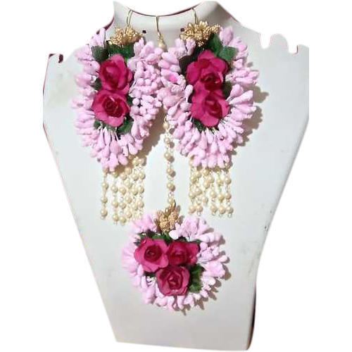 Paper And Foam Artificial Flower Necklace Set Rs 300 Set Id