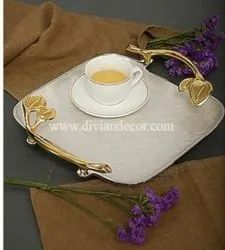 Ivory and Gold Plated Tray