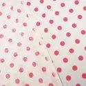 Pink Poka Dot 100% Coton Fabric Jaipuri Hand Block Print Fabric