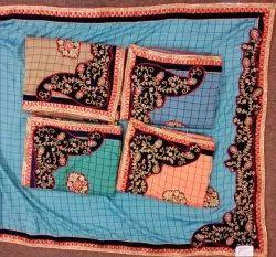 Vichitra Chex Silk Designer Saree