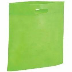 Plain Green Non Woven D Cut Bag for Shopping, Capacity: 2-5 Kg