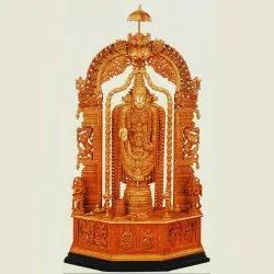 Brown Carving Wooden Balaji for Decoration, Size: 4 Feet