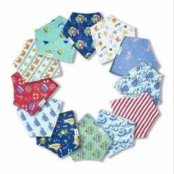Printed Multicolor Organic Cotton Bandana Drool Bibs for Babies Custom