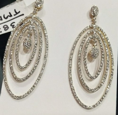 59dc12bcf Diamond Earring, Size: 2 Inches Long 1 Inch, Rs 133000 /piece | ID ...