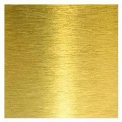 Brass Sheet, Size: 1250mm X 2500mm