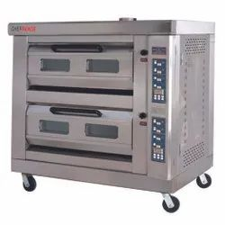 Digital Double Deck Gas Oven With Steam Injection