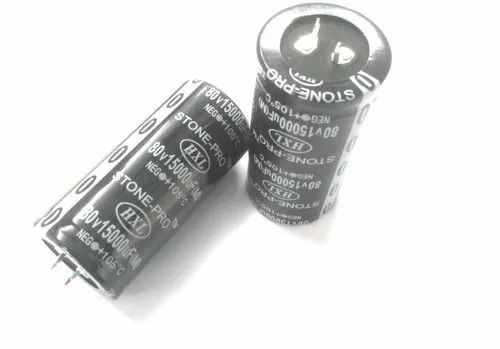 15000 MFD 80V STONE-PRO Aluminium Capacitor for Power