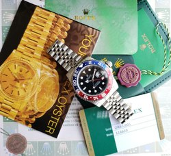 Rolex Stainless Steel Gmt Master Automatic Watch